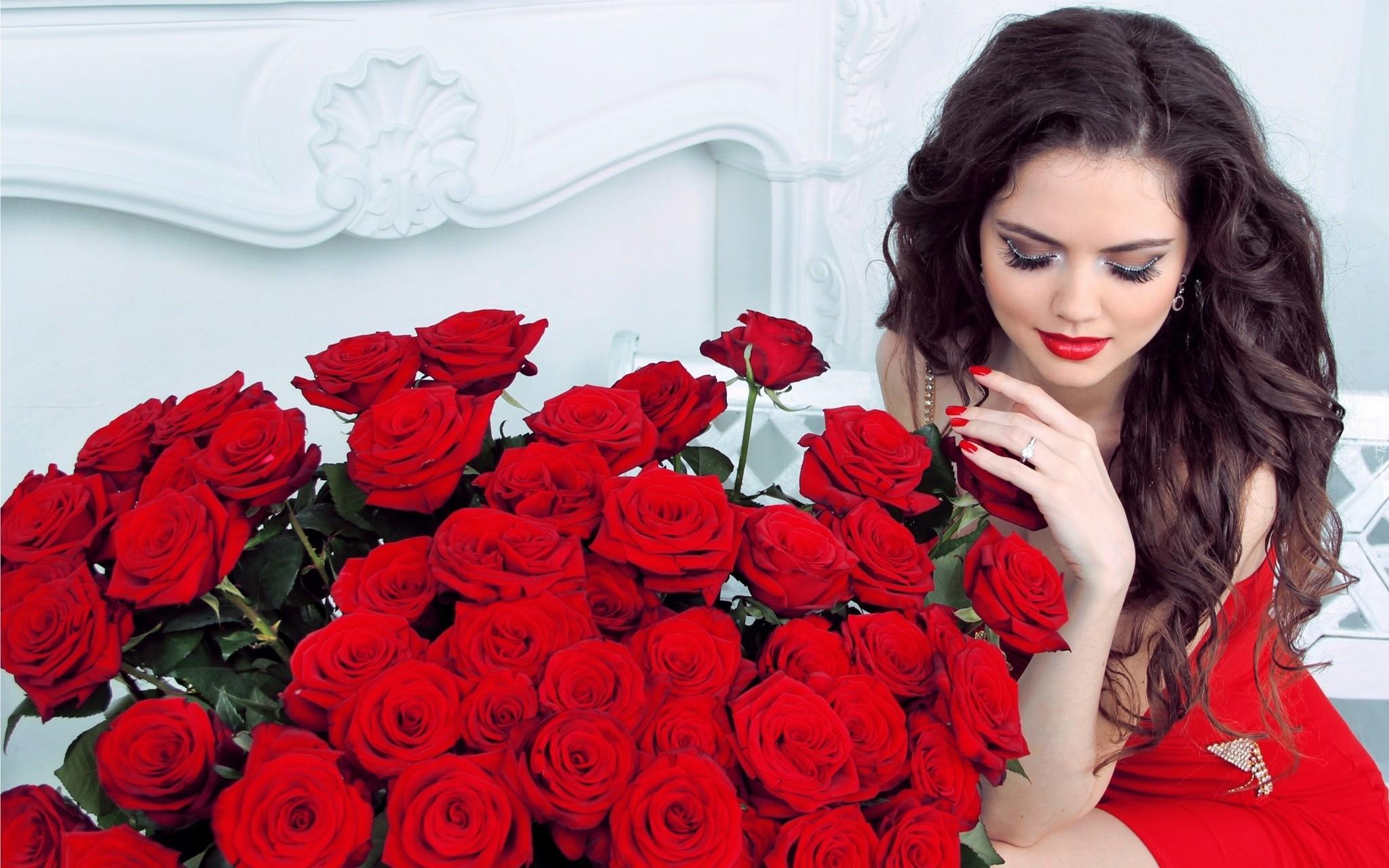 Красивые картинки женщин с надписью, февраля красивые