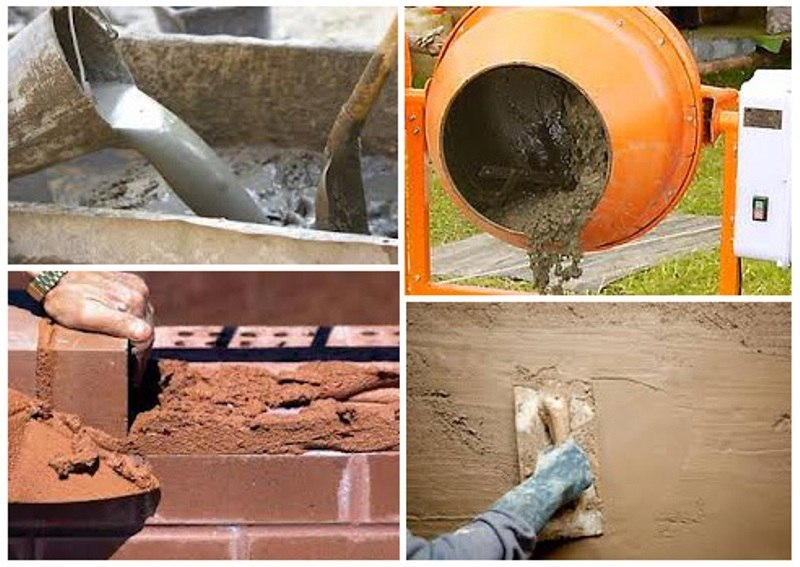 где применяется цемент